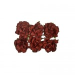 Paper Flowers Clove Dk. Brown (8 Pieces Per Pack) (clr 30)