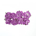 Paper Flowers - Curly Rose – Lilac (8 Pieces Per Pack) (clr 50)