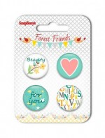 Forest Friends Metal Embellishments (For You) (clr 50)