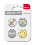 Set of embellishments № 4 Fall in love (clr 30)