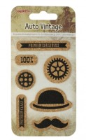 Set of cork stickers Auto Vintage (clr 50)