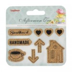 Set of cork stickers Afternoon Tea 2 (clr 50)