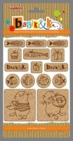 Set of cork stickers Basik&K 2 (clr 50)