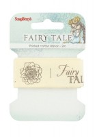 Printed cotton ribbon Fairy tale, 25mm, 2m (clr 70)
