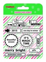 Set of stamps 10,5*10,5cm Happy Holidays. I love Winter (clr 70)