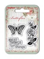 Set of clear stamps (7*7cm) Butterflies – The Best Things (clr 50)