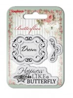 Set of clear stamps (7*7cm) Butterflies – Dream (clr 30)