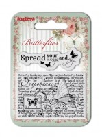 Set of clear stamps (7*7cm) Butterflies – Wings (clr 30)