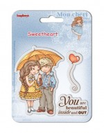 Set of clear stamps (10,5*10,5cm) Sweetheart – Beautiful (clr 50)