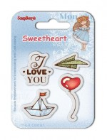 Set of clear stamps (7*7cm) Sweetheart – Boats & Balloons (clr 50)