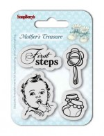 Set of Clear Stamps (7*7cm) Mother's Treasure – First Steps (clr 30)