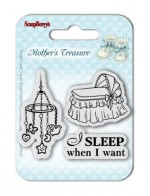 Set of Clear Stamps (7*7cm) Mother's Treasure – Sleep When I Want (clr 30)