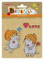 Basik's New Adventure Set of stamps (10.5*10.5cm) - Basik's Big Date (clr 30)