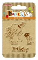 Basik's New Adventure Set of stamps (7*7cm) - Basik's Birthday (clr 30)