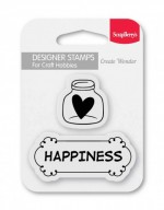 Set of stamps 7*7 cm Happiness (clr 70)