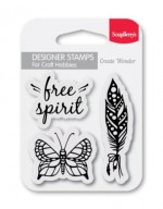 Set of clear stamps (7*7cm) - Free Spirit (clr 30)