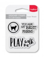 Set of clear stamps (7*7cm) - My Best Friend (clr 30)