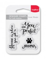 Set of clear stamps (7*7cm) - Meow (clr 30)