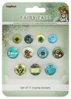 Crystal stickers decoration. Fairy Tale Set of 11 crystal stickers (clr 70)