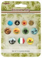 Crystal stickers decoration. Discover Italy Set of 11 crystal stickers (clr 70)