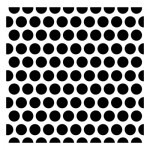 Stencil Dotted pattern 15,2*15,2cm thickness 0,31mm (clr 30)