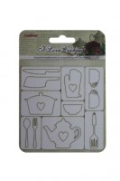 I Love Cooking 10x10 cm Chipboard Elements No. 3 (clr 80)