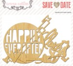 Save the Date: Die Cut Wood (25 pieces per pack) (clr 70)