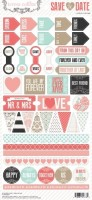 Save the Date: 6x12 Decorative Stickers (clr 70)