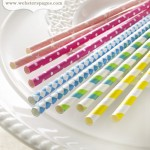 Bundle of Paper Straws – Party Time! (clr 50)