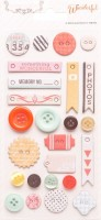 Something Wonderful Decorative Buttons (25 pieces per pack) (clr 70)
