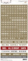 Tinsel & Company: Word Stickers (clr 80)