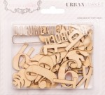 Urban Market Die Cut Wood (31 pieces per pack) (clr 90)