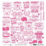 Sweet Sayings (Single 12X12 Vellum Sheet) (clr 80)