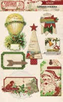 Vintage Christmas Layered Stickers (clr 80)