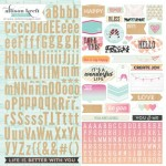 Alpha 12X12 Stickers (clr 80)