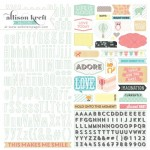 Alpha Hello Word 12X12 Stickers (clr 80)
