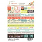 Word Our Travels 4X6 Stickers (clr 50)