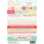 Word Growing Up Girl 4X6 Stickers (clr 50)