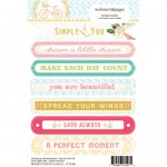 Sentiment Growing Up Girl 4X6 Stickers (clr 50)